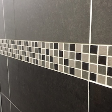 Bathroom Tiles Mosaic Border Features 6 Intended Design