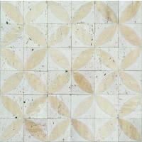 Spiral Beige Marble Mosaic