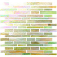 Evening Glow Glass Brickbond Mosaic