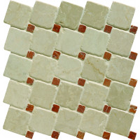 Venetian Bianco Offset Mosaic